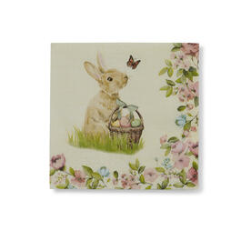 Floral Bunny Bar Napkins, 20-Count view 1