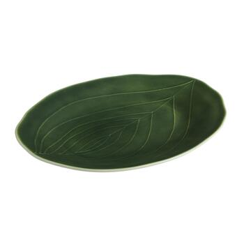 "15.5"" Palm Leaf Oval Serving Platter"