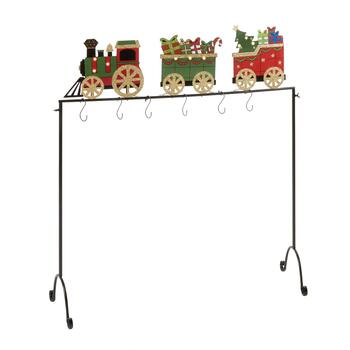 Holiday Train LED Freestanding Stocking Holder