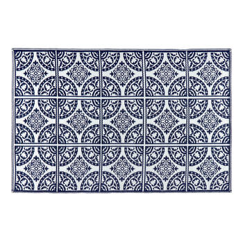 Patio Mat Navy 4x6 B view 2