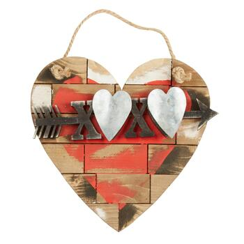 "XOXO"" Rustic Wood and Metal Heart Wall Decor - Christmas Tree Shops ..."