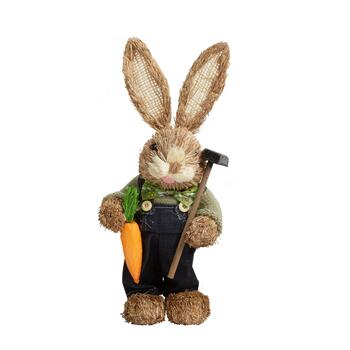 "14"" Bunny Boy with Hammer Decor"
