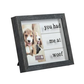 "7.5""x9.25"" ""You Had Me at Woof"" Picture Frame"