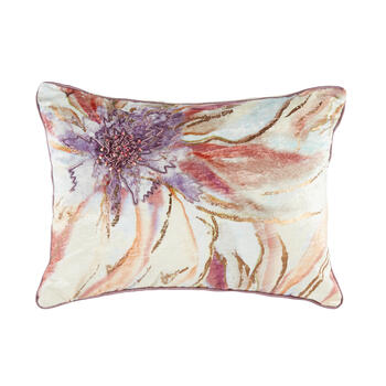 Watercolor Flower Oblong Throw Pillow view 1