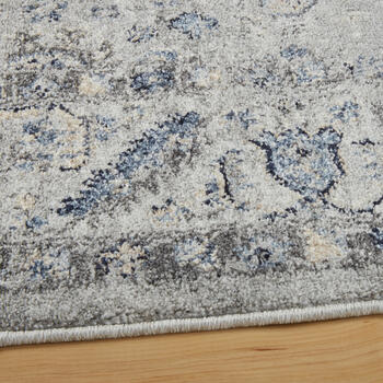 The Grainhouse™ Gray/Blue Faded Traditional Area Rug view 2