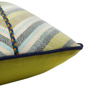 Patterned Chevron Oblong Throw Pillow with Trim view 2 view 3
