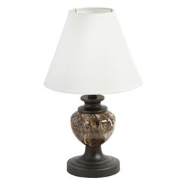 "14"" Metal Marble Accent Table Lamp"