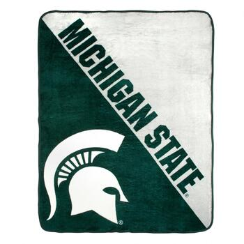 NCAA Michigan State Plush Throw Blanket