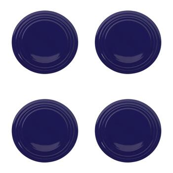 Rachael Ray™ Blue Ridged Rim Dinner Plates, Set of 4