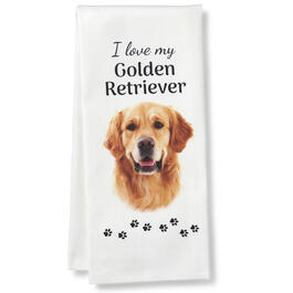 I Love My Golden Retriever Kitchen Towel view 1