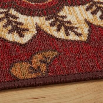 "52""x79"" Burgundy Flowers Area Rug view 2"