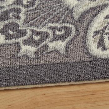 "Waverly® 4'4""x6'11"" Gray Floral Indoor/Outdoor Area Rug view 2"