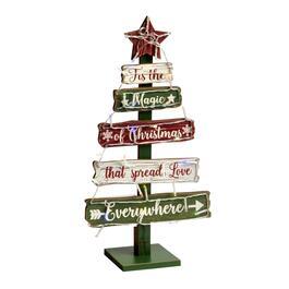 195 the magic of christmas led tiered wood tree - Christmas Tree Shop Pembroke