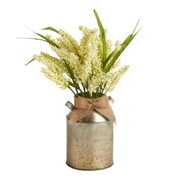 The Grainhouse™ Ivory Artificial Plant in Metal Pot