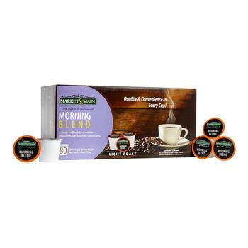 Market & Main® Morning Blend Coffee Pods, 80-Count