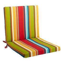 Fiesta Stripe Indoor/Outdoor Mid-Back Chair Pad