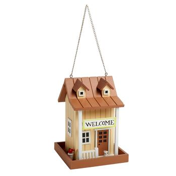"""Welcome"" Home Hanging Bird Feeder"