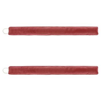 Faux Suede Solid Draft Blockers, Set of 2