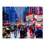 "16""x20"" Christmas in the City LED Canvas Wall Art"