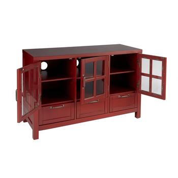 "The Grainhouse™ 45"" Red 3-Door/3-Drawer Television Stand view 2"