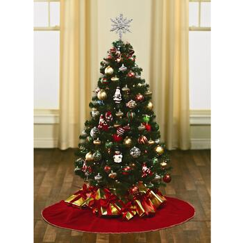 4.5' Pre-Lit Artificial Tree with Clear Lights view 2