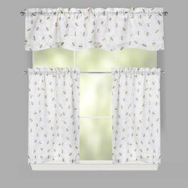Bumble Bee Ivory Window Tier & Valance Set