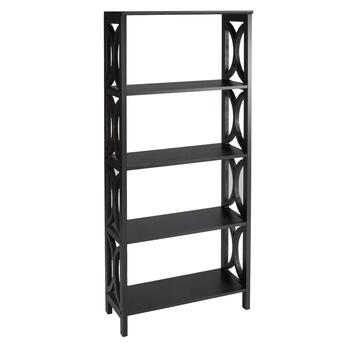 Black Circles 5-Shelf Bookcase