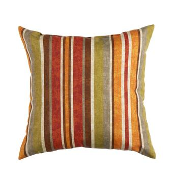 Red/Orange Stripe Indoor/Outdoor Square Throw Pillow