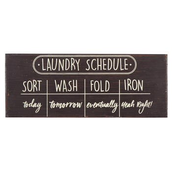 "20"" ""Laundry Schedule"" Wood Wall Sign view 1"