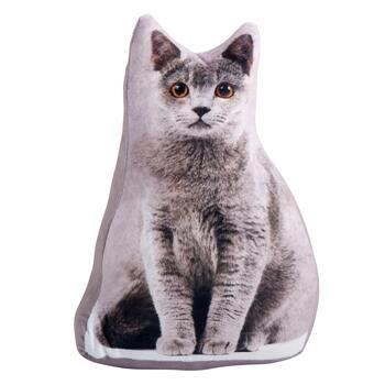 Gray Cat Photorealistic Door Stopper
