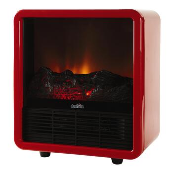 Red Duraflame® Electric Stove Mini Space Heater