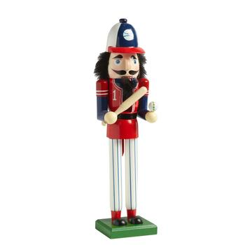 "15"" Baseball Player Nutcracker Decor"