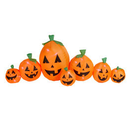 9' Airblown® Inflatable Indoor/Outdoor Lighted Pumpkin Family view 1
