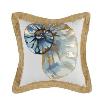 "Coastal Living Seascapes™ 18"" Shell Indoor/Outdoor Throw Pillow"