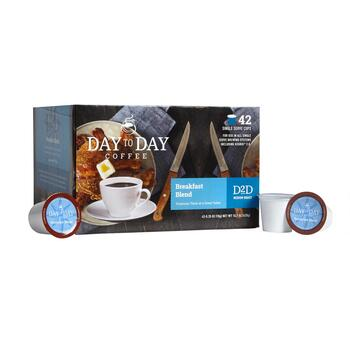 Day To Day Coffee Breakfast Blend Pods, 42-Count