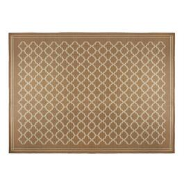 Brown/Beige Lattice All-Weather Area Rug
