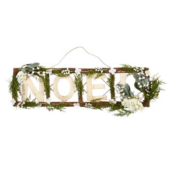 "36.5"" ""Noel"" Evergreen & Berries Hanging Wall Decor view 1"