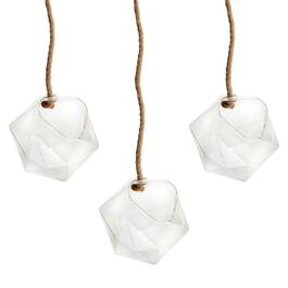 "6.5"" Geo Hanging Terrariums with Rope, Set of 3"