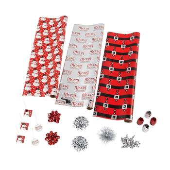 Snowman and Santa Executive Wrapping Paper Kit