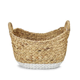 Petal and Stone™ Water Hyacinth Boat 2-Tone Basket view 1