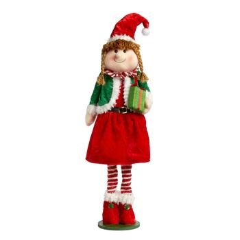 "20"" Red Hat Extendable Standing Girl Elf"