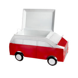 Red Van Metal Ice Cooler view 1