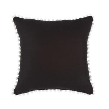 Black Sugar Skull Halloween Throw Pillow view 2