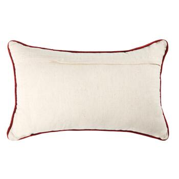 Beaded Feathers Embroidered Oblong Throw Pillow view 2
