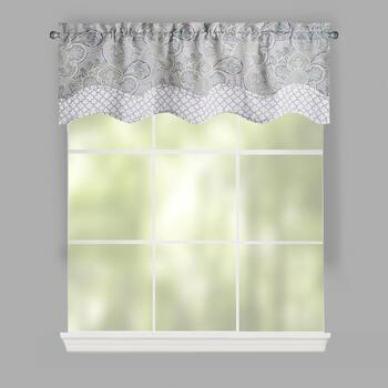 Traditions by Waverly® Green Paddock Paisley Window Valances, Set of 2