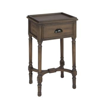 The Grainhouse™ Brown 1-Drawer Tray Top Wood Accent Table