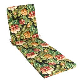 Tropical Flowers Indoor/Outdoor Hinged Chaise Chair Pad