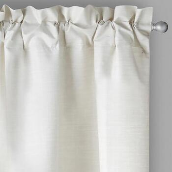 Solstice™ Solid Ivory Foam Back Window Curtains, Set of 2