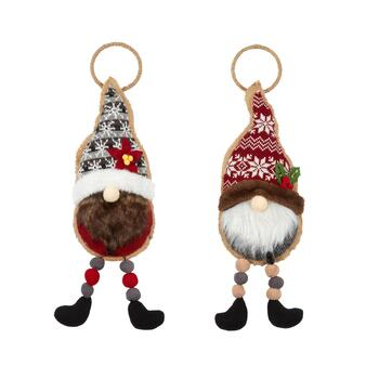 "19"" Gnome Door Hangers, Set of 2"