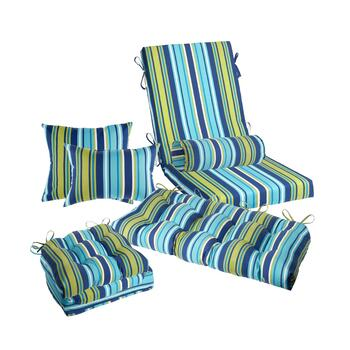 Blue/Green Striped Indoor/Outdoor Pads  Collection